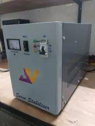 5kva Single Phase Servo Voltage Stabilizer, 160 Volt Ac To 280 Volt Ac