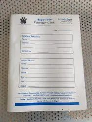 White Paper Hospital Files With Multi Colored Printing