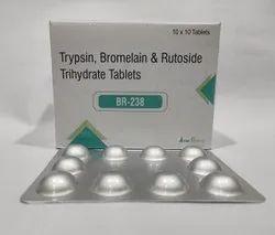 Trypsin 48mg+Bromelain 90mg+Rutoside 100mg Tablet