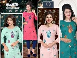 Ladies Embroidery Rayon Suit