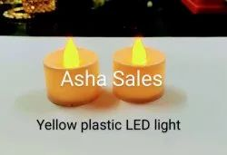 Yellow Plastic LED Light Candle, For Diwali, 5 Watt