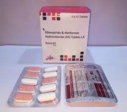 Glimepiride 2mg, Metformin 500mg Tablet