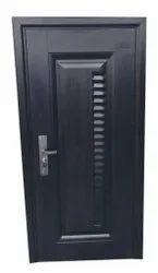 Dark Brown Hinged Security Steel Door, Size: 2100x960x70 mm
