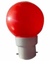 Red Ceramic 0.5W Color LED Bulb, For Home, 3000K