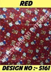Printed Red Raising Velvet Fabric, For Baby Swing
