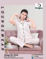 dangles White Pyjama Shirt