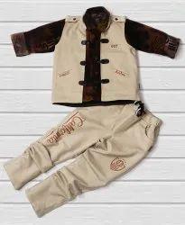 Boy kids cotty jens shirt set