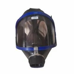 Blue and Black Drager Gas Mask