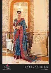 Party Wear Tussar Silk Saree