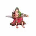 Rajasthani Lady Center Table- Pink (Without Glass)