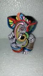 Multicolor Clay Handmade Pen Holder, For Home, Size/Dimension: 5.5 X 3.5inch