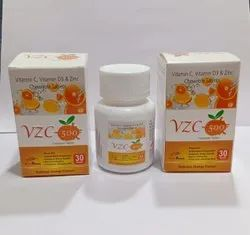 Vitamin c 500mg+vitamin D3 400mg+Zinc10mg chewable Tablet
