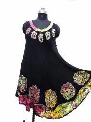 Crepe Rayon Designer Dress