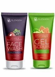 Blenqish Daily Face Wash And Gel Scrub Combo, Packaging Size: 100gm + 100 Gm