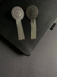 Brass Round 9591 German Silver Earring