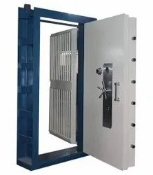 Cast Iron Manual Security Safe Door, For Commercial, 60 X 48 Inch
