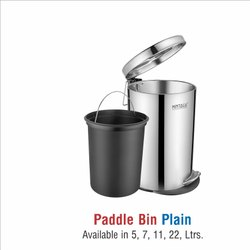 Stainless Steel Plain Pedal Dustbin-7 ltr