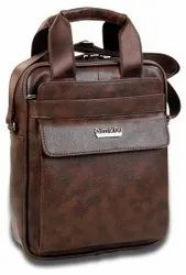Modern Brown Royal Lather Casual Hand Bag, Size: Full Size