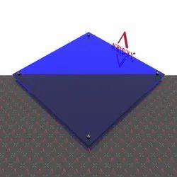 Blue Transparent Acrlic Sheet