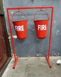 Fire Bucket Stand For 2 Bucket