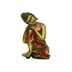 Brass Color Lord Buddha Showpiec