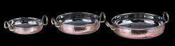 Copper Hammered Mini Brazier/Flat Bottom Karahi Portion Dish