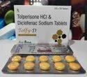 Diclofenac 50mg+Tolperisone 150mg Tablets