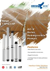 4 AC 2HP CI Solar Submersible Pump Set
