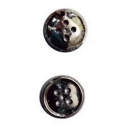 Round Silver Plastic Shirt Button, For Used in Garments, Size/Dimension: 8mm