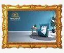 Wooden Golden Teak Wood Carved Picture Frame, For Decoration, Size: 600 X 400mm