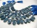Natural Blue Opal Pencil Arrow Shape 12x18mm Beads Sold Per Strand 10 Inches Long