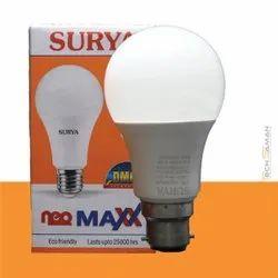 Cool White Surya Neo Max B-22 LED Bulb, 9 W, 220 V