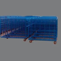 4feet Stainless Steel Ms Trolley Fabrication Work, For Industrial, Load Capacity: 500kg