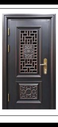 Zinc Alloy Designer Steel Security Door, Thickness: 90mm