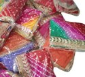 Silk Bandhej Gotapatti Dupatta