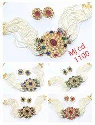 Traditional Polki Choker Necklace Set