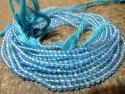 Natural Sky Blue Topaz 3mm Round faceted Beads Sold per Strand 13 Inches Long