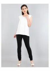 Casual Upto 40 colours Ladies Plain Cotton Legging, Straight Fit