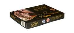 Amina Henna Instant Tatto Black Outline Mehendi Cone, For Parlour, Packaging Type: Box