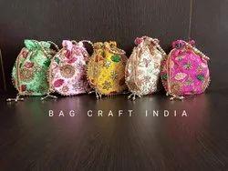 Raw Silk Designer Potlis (PB202114)