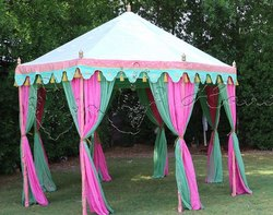 Small  coloured Pavilion tent