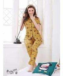 Full Length Printed Ladies Hosiery Night Suits, 18 To 25