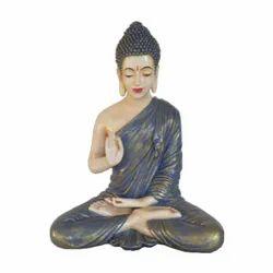 Meditating Gautam Buddha statue - Dark Blue And Golden Shade