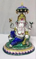 Silver Ganesh Ji Aashirwaad ( 5inches)