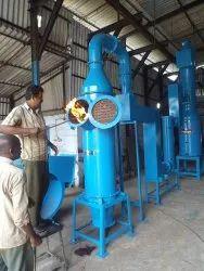Chicken waste incinerator with gas burner