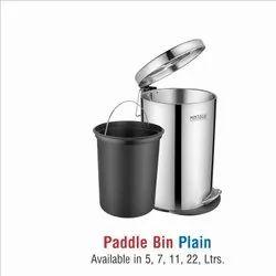 Stainless Steel Plain Pedal Dustbin-11 ltr