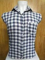 Collar Neck Casual Wear Mens Check Formal Shirt