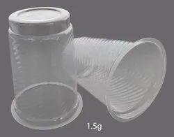 Plain 1.5gm Disposable Plastic Glass