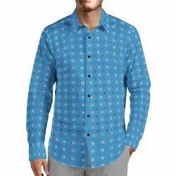 JPND Cotton Men Fancy Printed Shirt