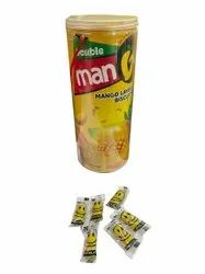 Double man Hard Candy Mango Flavour Layer Biscuit, Packaging Type: Plastic Jar